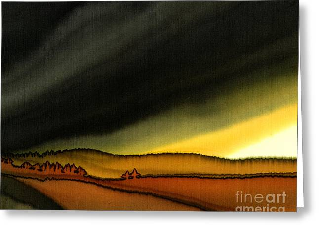 Impending Storm Greeting Card by Addie Hocynec