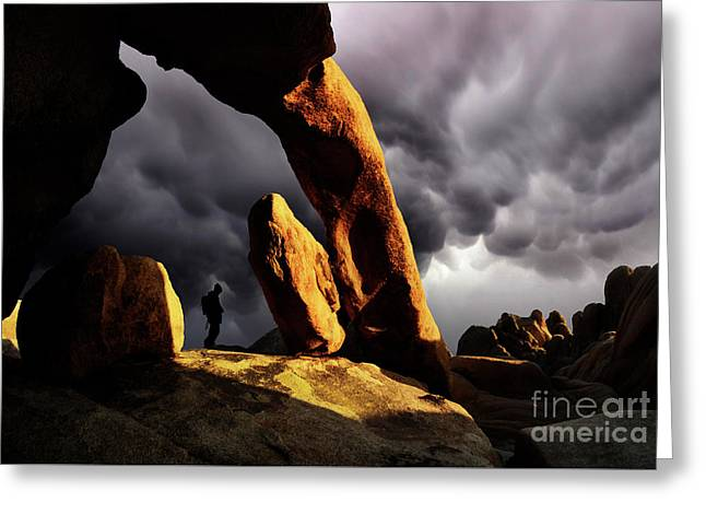 Impending Storm Greeting Card by Bob Christopher