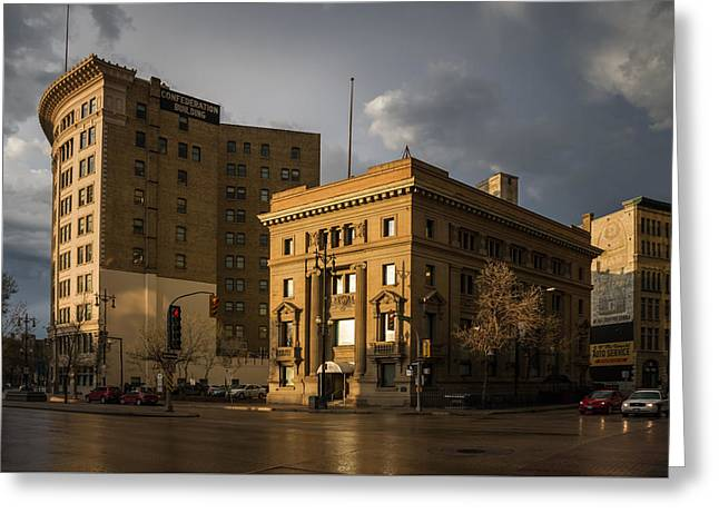 Imperial Bank Of Canada/confederation Building Greeting Card by Bryan Scott