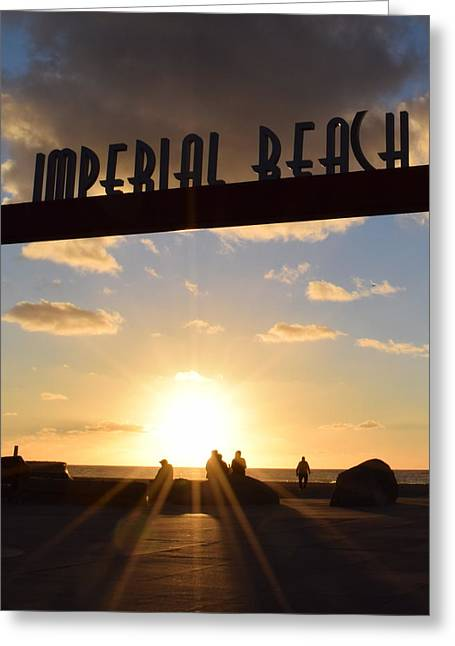 Imperial Beach At Sunset Greeting Card