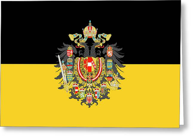 Habsburg Flag With Imperial Coat Of Arms 1 Greeting Card