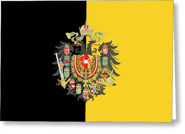 Habsburg Flag With Imperial Coat Of Arms 2 Greeting Card