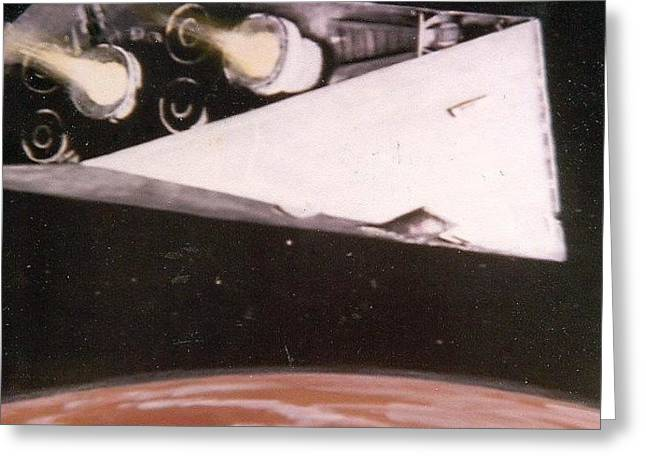 Imperial Cruiser Greeting Card by Bill Cope