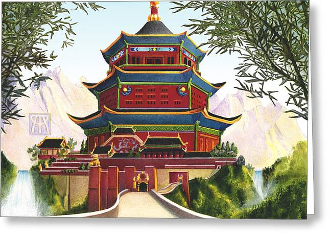 Imperial Palace Greeting Card by Melissa A Benson