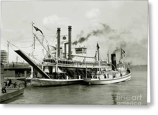 Imperial Steamboat New Orleans Greeting Card