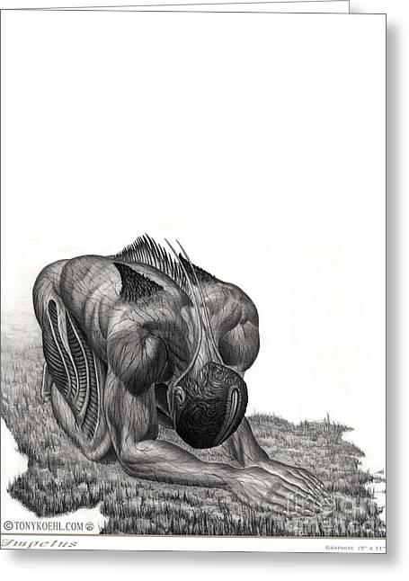 Impetus Graphite Greeting Card by Tony Koehl