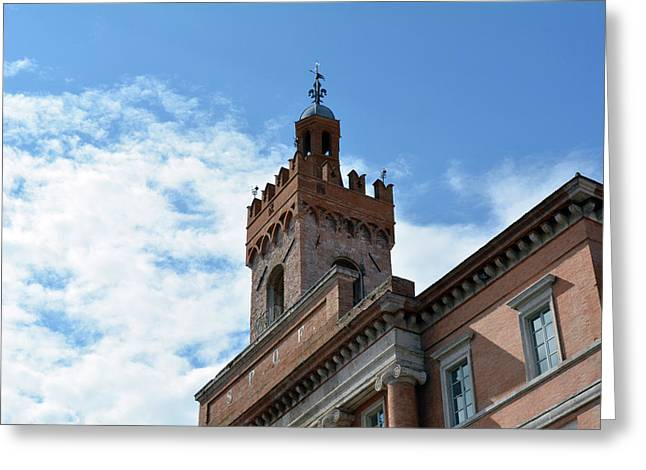 Important Brick Building In Foligno, Italy Greeting Card