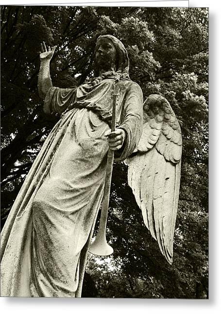 Imposing Angel Greeting Card by Brigid Nelson