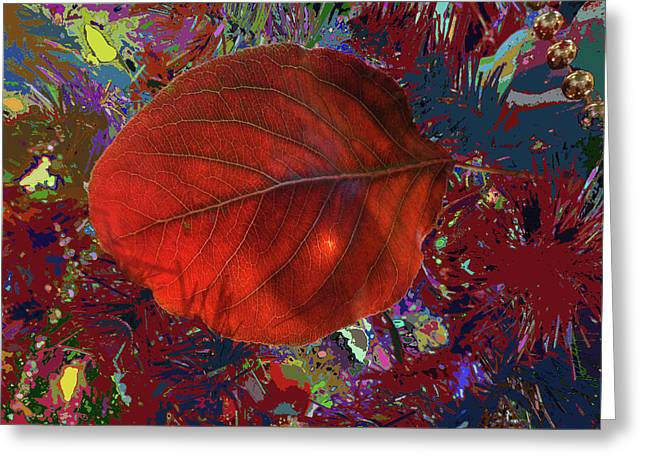 Imposition Of Leaf At The Season Greeting Card by Kenneth James