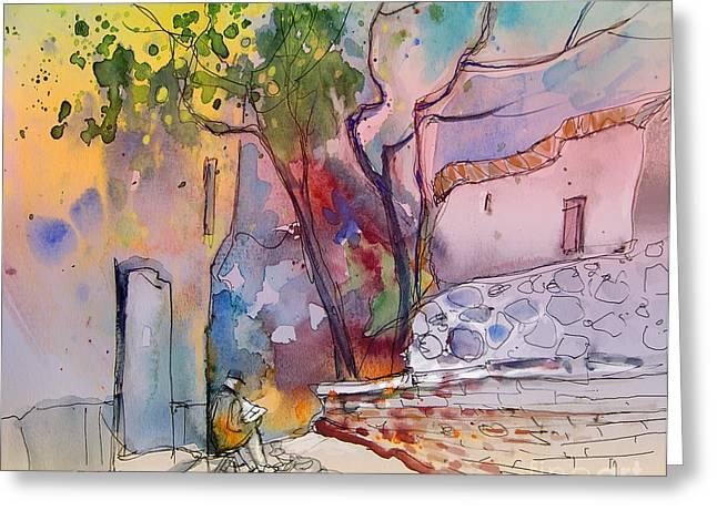 Impression De Trevelez Sierra Nevada 02 Greeting Card by Miki De Goodaboom