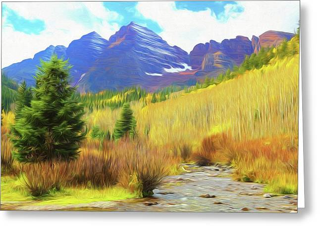 Greeting Card featuring the photograph Impression, Maroon Bells by Eric Glaser