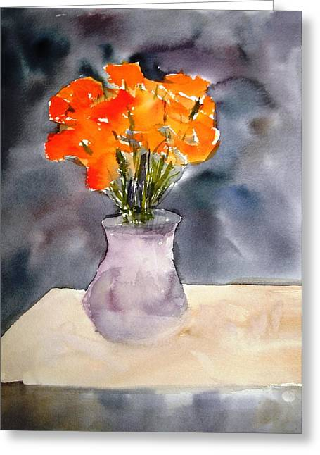 Impression Of Flowers Greeting Card