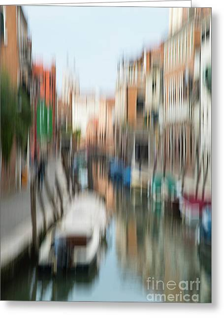 Greeting Card featuring the photograph Impression Of Venice #3 by Brenda Tharp