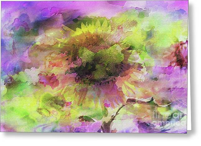 Impression Sunflower Greeting Card