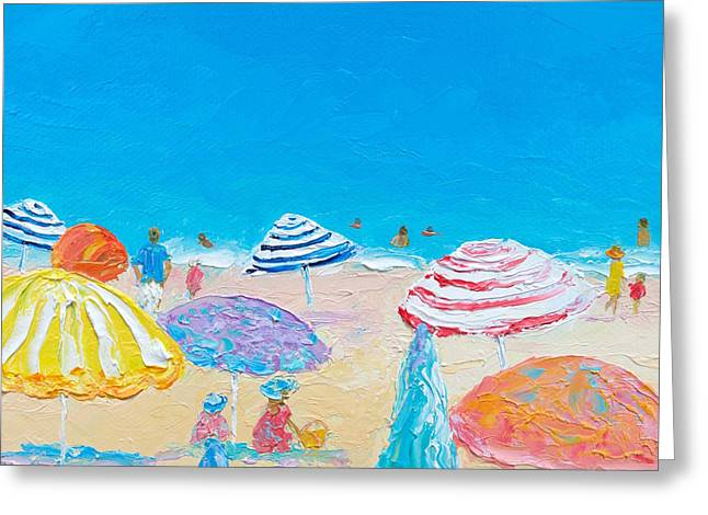 Impressionist Beach Painting Greeting Card by Jan Matson