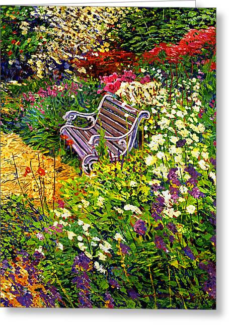 Impressionist Painter's Chair Greeting Card by David Lloyd Glover