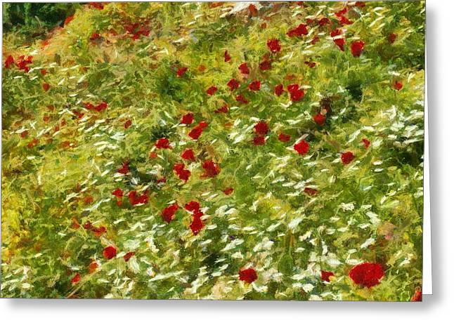 Impressionist Poppies Greeting Card