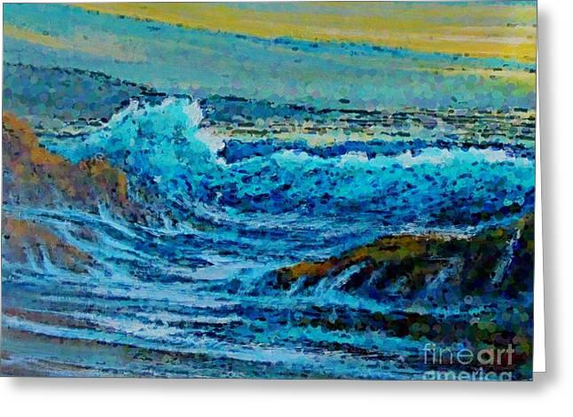 Impressionist Seascape Greeting Card by John Malone