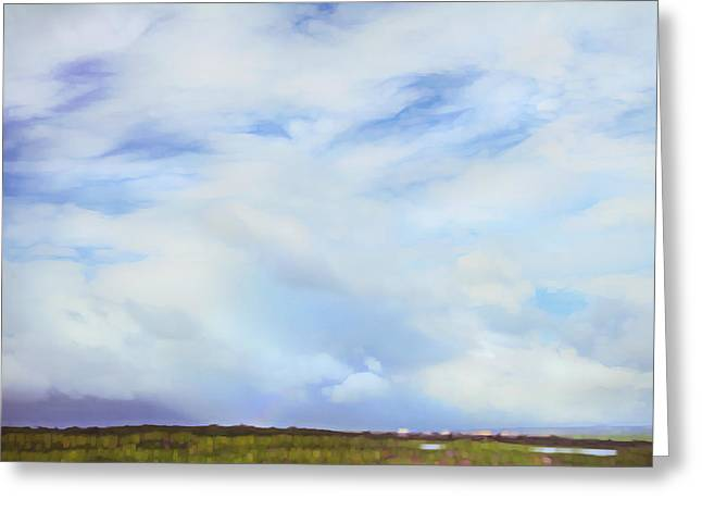 Impressionist Sky Over Maui Greeting Card by Theresa Tahara