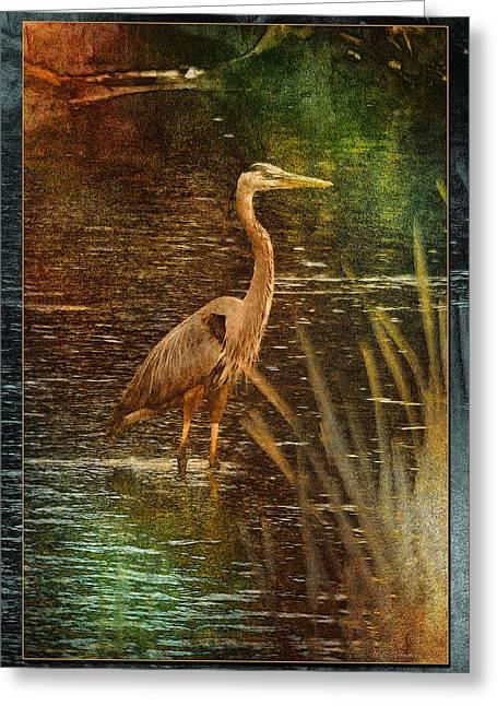 Impressionistic Heron Greeting Card
