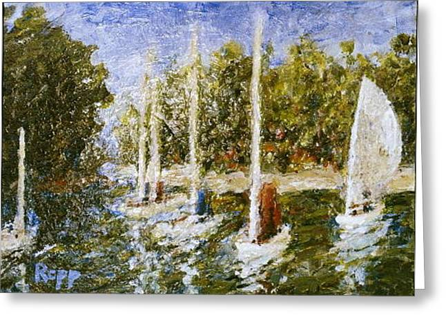 Impressionistic Impression Greeting Card by Jan Rapp