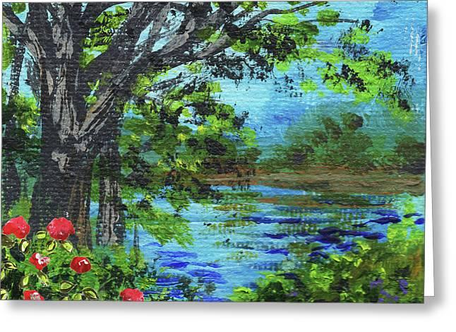 Impressionistic Landscape Iv Greeting Card