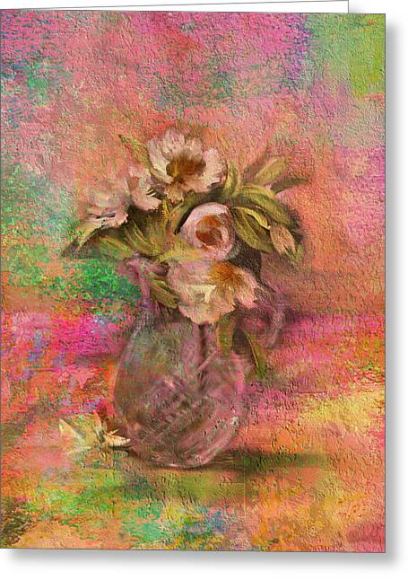 Impressionistic Still Life  Greeting Card by Carla Parris