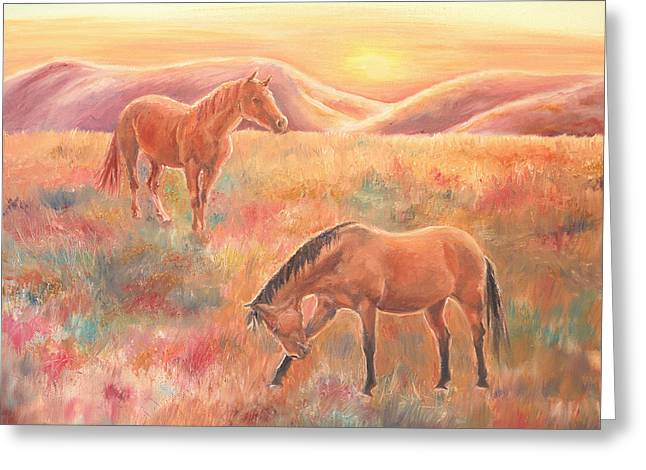 Impressions At Sunset Greeting Card