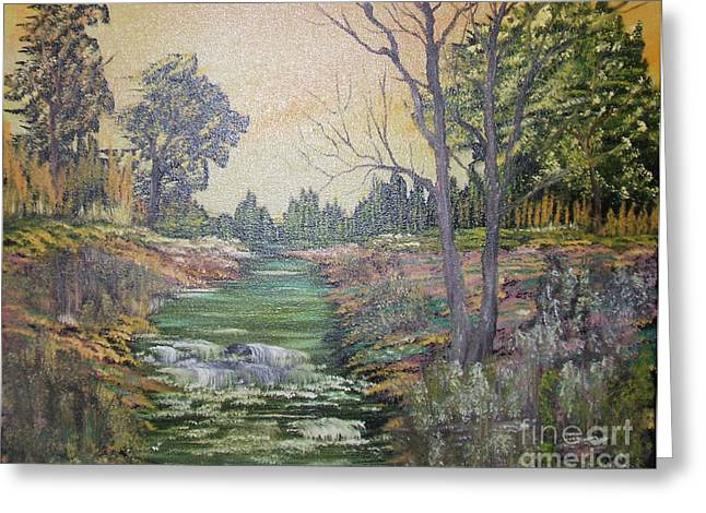Impressions In Oil - 1 Greeting Card by Bill Turck