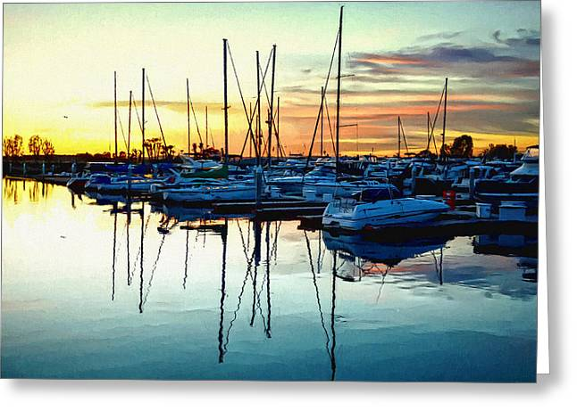 Greeting Card featuring the photograph Impressions Of A San Diego Marina by Glenn McCarthy Art and Photography