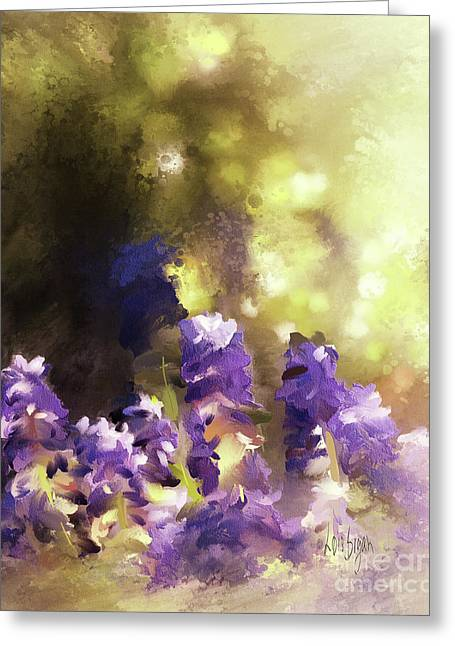 Impressions Of Muscari Greeting Card