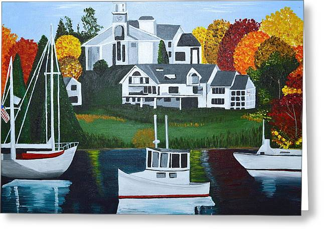 Impressions Of New England Two Greeting Card by Donna Blossom