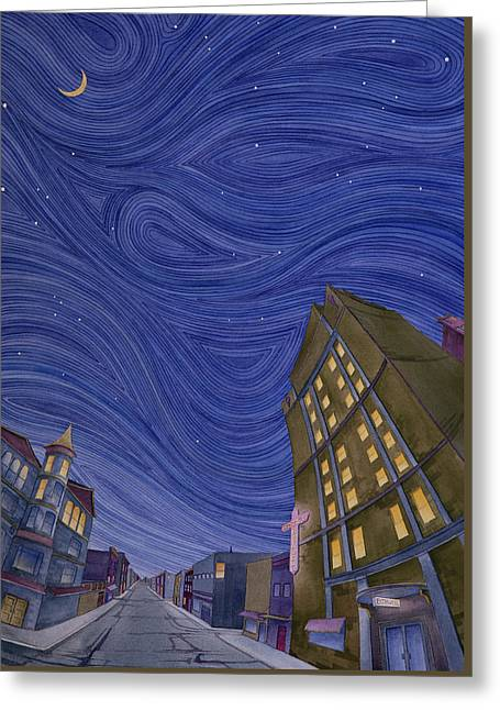 Impressions Of Sedalia Nocturne Greeting Card