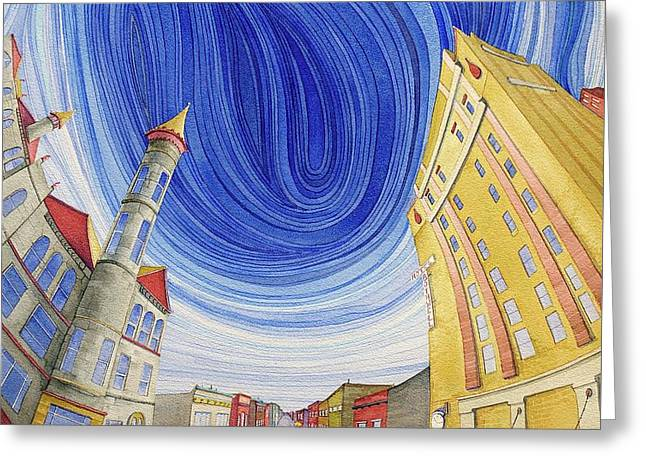 Greeting Card featuring the painting Impressions Of Sedalia by Scott Kirby