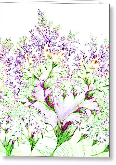 Impressions Of Spring Greeting Card
