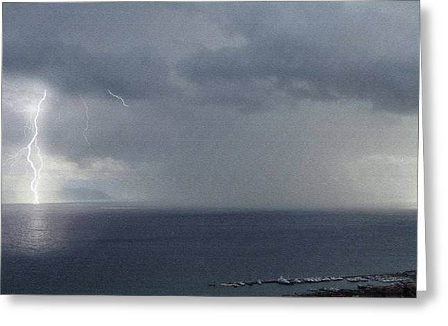 Impressions Of The Bay Of Naples #3 Greeting Card