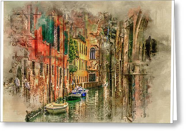 Impressions Of Venice Greeting Card by Brian Tarr