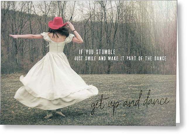 Improvise Quote Greeting Card by JAMART Photography
