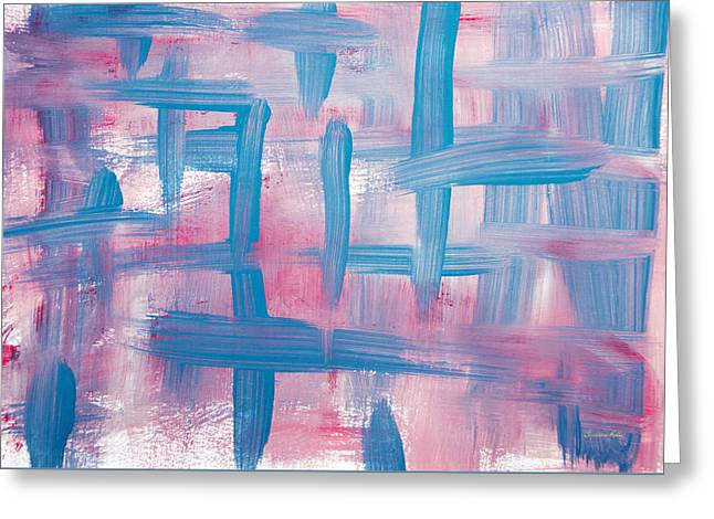 Impulse Abstract Painting Greeting Card by Christina Rollo