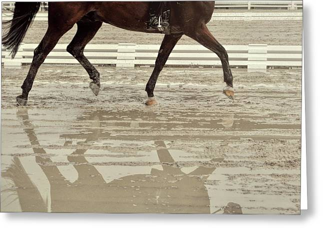 Impulsion Mirrored Greeting Card by JAMART Photography