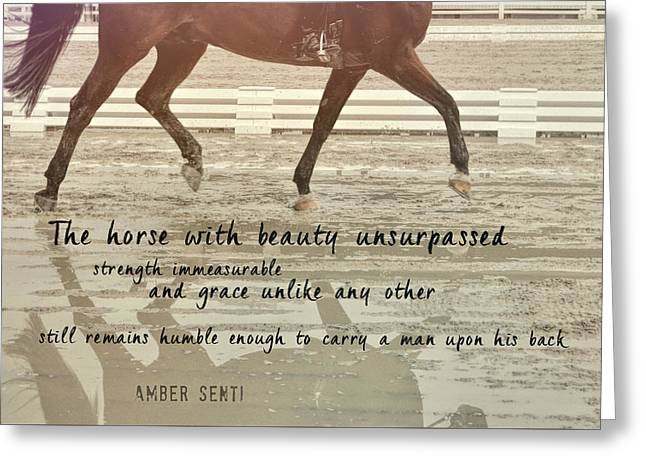 Impulsion Mirrored Quote Greeting Card by JAMART Photography