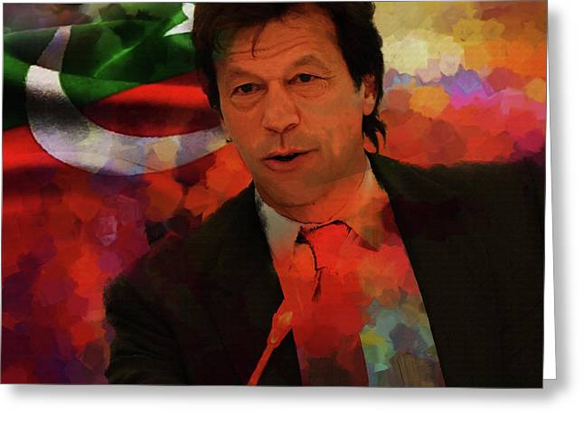 Imran Khan  Greeting Card by Gull G
