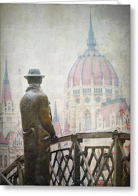 Imre Nagy Budapest Greeting Card by Joan Carroll
