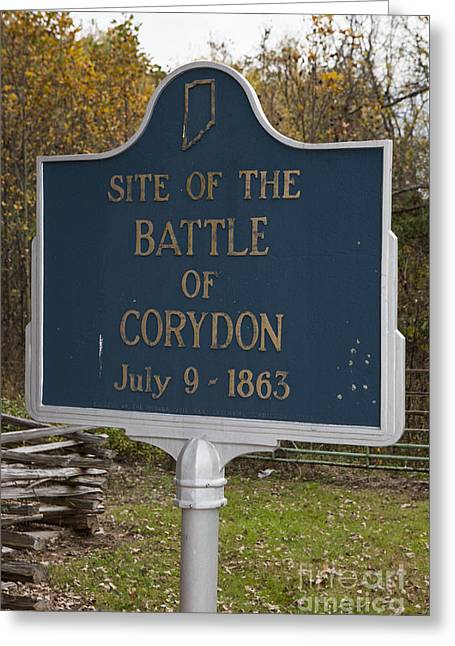 In-31.1963.1 Site Of The Battle Of Corydon July 9, 1863 Greeting Card by Jason O Watson
