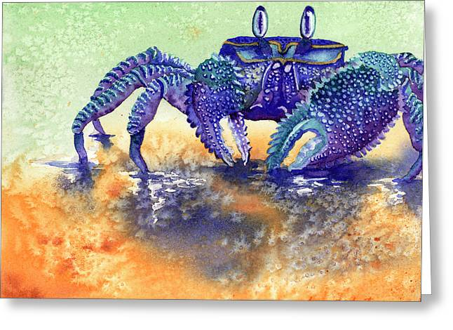 Scavengers Greeting Cards - In a Blue Mood Greeting Card by Tracy L Teeter