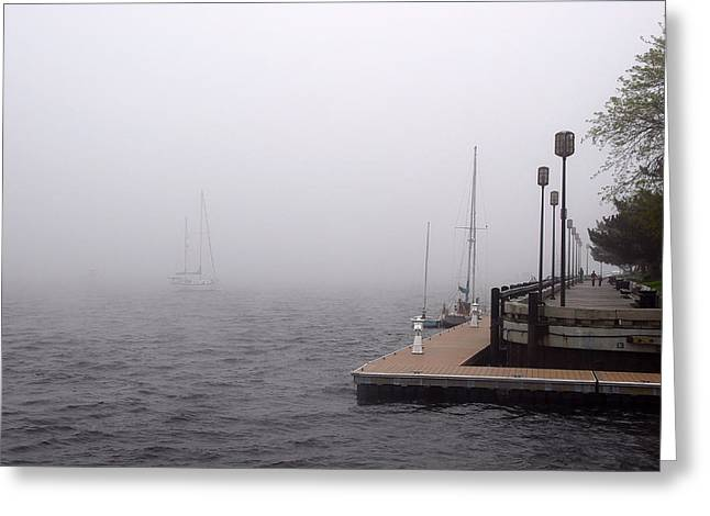In A Fog In Newburyport Greeting Card