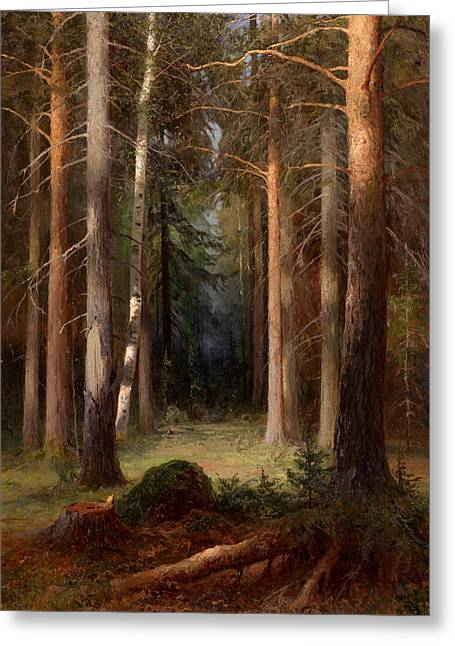 In A Pine Grove Greeting Card
