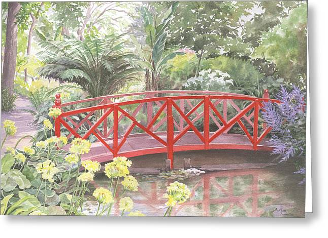 In Abbotsbury Subtropical Gardens. Greeting Card by Maureen Carter