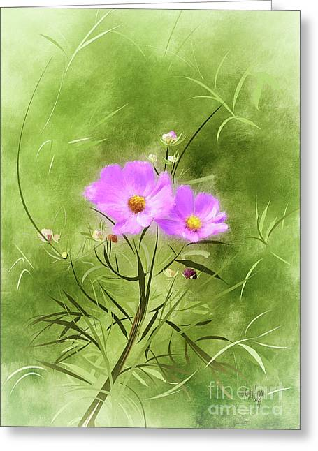 In An August Breeze Greeting Card
