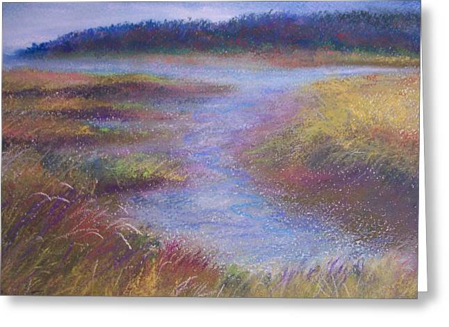Wetlands Pastels Greeting Cards - In and Out - Wetlands Greeting Card by Jackie Bush-Turner